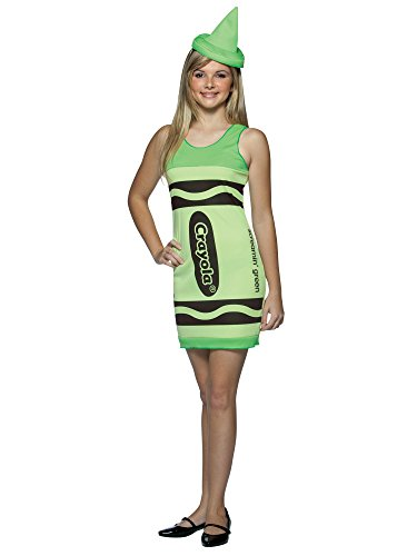 Crayola Crayon Tank Dress Costumes (Crayola Crayon Tank Dress Teen/Junior Costume Screamin' Green - Teen)