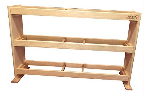 Optimal Branding Solutions LLC Bowling Ball Rack - Wood - 15 Ball Capacity ()