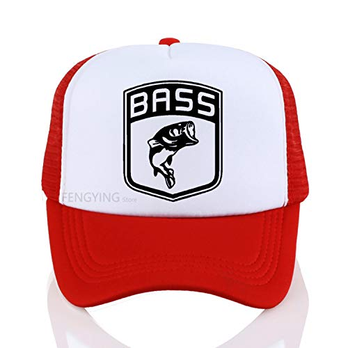 - SINXE Fish Fishing Baseball caps Bait Carp Angling Men Pre Cotton Cap Summer Snapbacks Hat Adjustable Sports Cap White Red