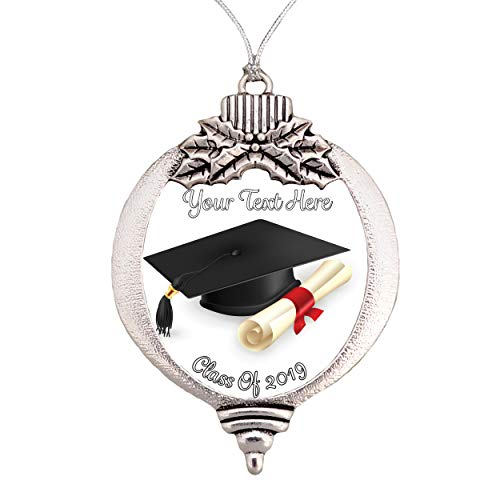 Class of 2019 Bulb Silver Christmas Ornament Gift Graduation Gift Graduate Choose Your Text ()