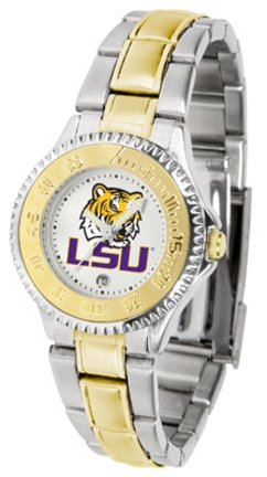 - SunTime Louisiana State (LSU) Tigers Competitor Ladies Watch with Two-Tone Band