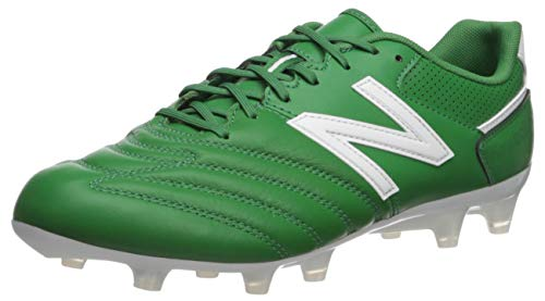 New Balance Men's 442 Team V1 Classic Soccer Shoe, Green/White, 8 2E US (Green Cleats White Soccer And)