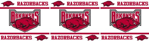 Arkansas Razorbacks NCAA Decor Wall Border 8 PACK (5 In by 15 Ft Per Pack = 120 Feet Total!) - Great for Playrooms, Basements or Mega-Sized Fancaves! - SAVE BIG ON BUNDLING! by Sports Coverage