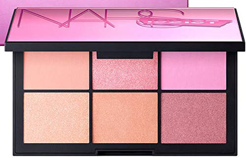 NARS NARSissist Unfiltered II Limited Edition Blush Palette for Cheeks - UK Version - .12 ounces x 6 Includes Hot Sand, Conquest, Undefeated, Power Play, Candid and Fame - 3.5g/0.12oz Makeup Pink