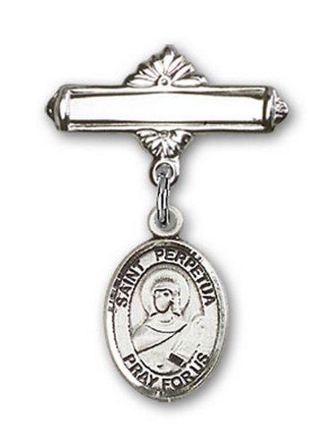Icecarats Créatrice De Bijoux En Argent Sterling St. Charme Perpétuité Broche De Badge 1 X 5/8