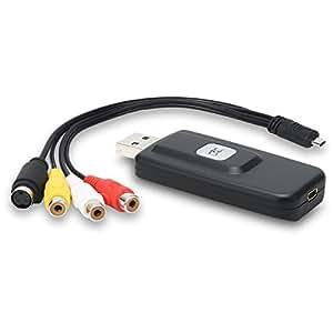 DIGITNOW! USB Audio Video Capture Card Game Grabber, Convert VHS VCR TV to Digital DVD Video Converter ,Snapshot for Record, S-Video/RCA/AV to USB Adapter