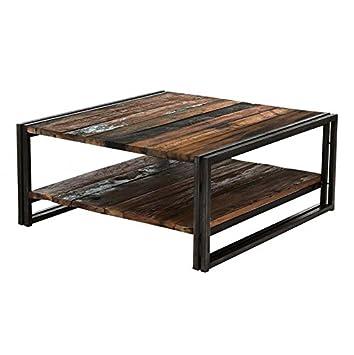 Coup De C X153 Ur Design Couchtisch Quadratisch Holz Metall