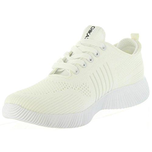 Blanco Talla ICHIA CHIKA10 Deporte 38 02 de Mujer Zapatillas UFqwzHg1W