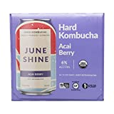 Juneshine, Kombucha Hard Acai Berry, 6pk, 12 Fl Oz