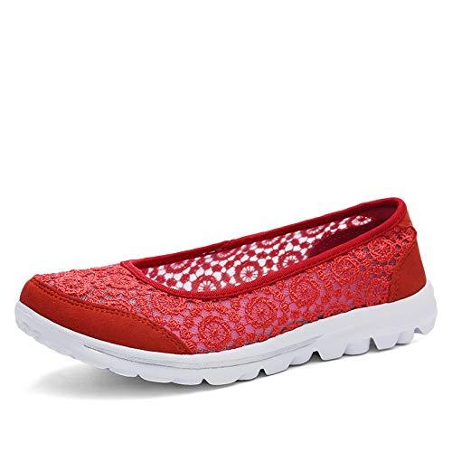 Zhrui coloré Rouge 41 Taille Chaussures Eu Rouge 5r5gqa4