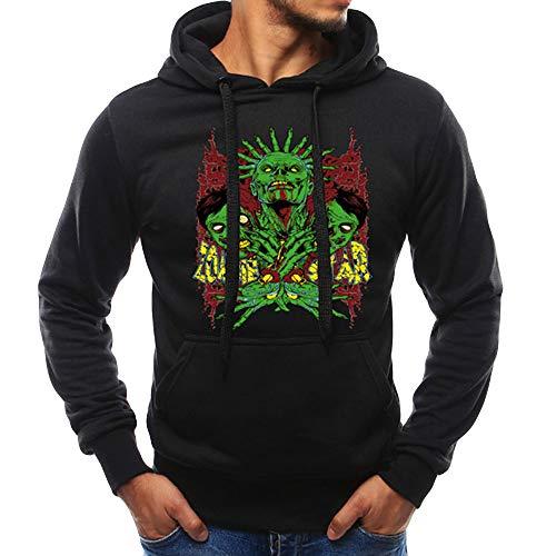 Christmas Men Long Sleeve Autumn Winter Casual Sweatshirt Hoodies Top 3D Print Outdoor Sport Blouse Tracksuits Pocket