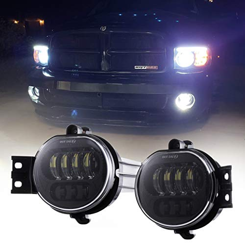 Full LED License Plate Lights Lamp SET Assembly Replacement for 2003-2018 Dodge RAM 1500 2500 3500 Pickup Truck with 36 LED Plug and Play