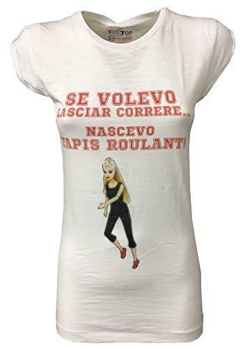TIP&TOP Camiseta de Mujer Blanca Media Manga Cinta de Correr 100 ...