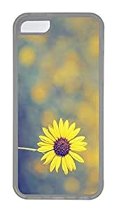 iPhone 5C Case, Customized Protective Soft TPU Clear Case for iphone 5C - Sunshine Daisy Cover