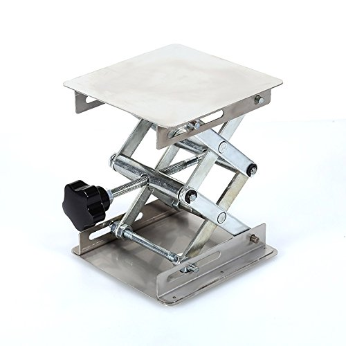Ochoos 4'' x 4'' 100mm Stainless Steel Lab Stand Lifting Platform Laboratory Tool Laboratory Lifting Platform by Ochoos (Image #3)