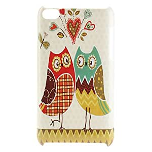 AES - Loving Owl Pattern Hard Case for iPod Touch 4
