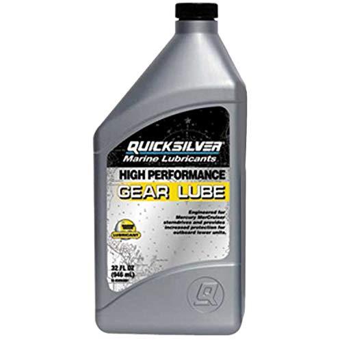 (Mercury Quicksilver High Performance Gear Lube & Pump Kit and Mercury Drain Screw Gasket Bundle)