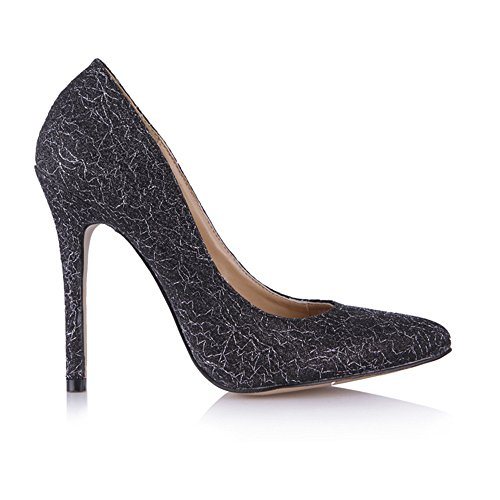 Click shoes and sexy female office pointed women shoes large black pearl the the high-heel shoes Black Gold wire zuHdLav