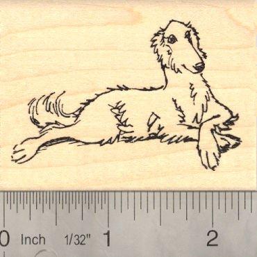 Borzoi Russian Wolf Hound Dog Rubber Stamp