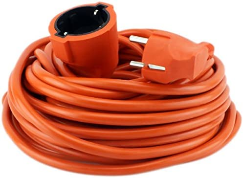 Cable de alimentación 30 metros, cable alargador goma naranja ...