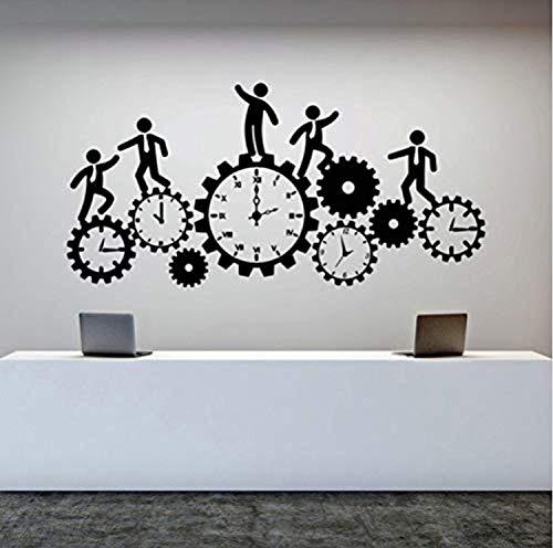 Profit Decal Team Work Business Clock Gear Time Home Office Art Wallpaper - Wall Decals Mural Decor Vinyl Z6319