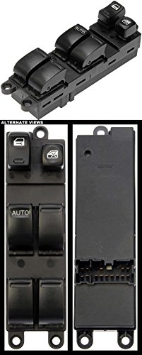 APDTY 012910 Master 6 Button Power Window Switch Fits Front Driver Side Left 2000-2003 Nissan Sentra (Replaces 25401-5M000, 254015M000, 25401-6Z500, 254016Z500)
