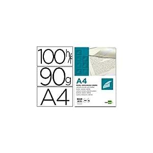 Liderpapel VJ04 - Pack de 100 hojas de papel verjurado, A4, 90 g/m²