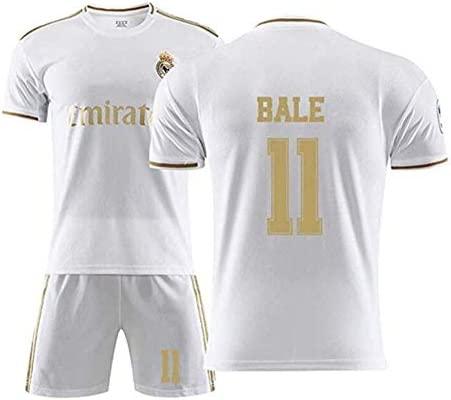 Conjunto de Ropa de fútbol España # 11 Real Madrid Gareth Bale Fútbol Ropa Deportiva Niños Camisetas for Adultos y niños WASDUNS (Size : 18#): Amazon.es: Deportes y aire libre