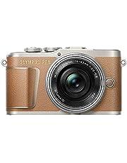 Olympus PEN E-PL9 Kit, Micro Four Thirds Systemkamera (16,1 Megapixel, Bildstabilisator, elektronischer Sucher, 4K-Video) + M.Zuiko 14-42mm EZ Zoomobjektiv, braun/silber