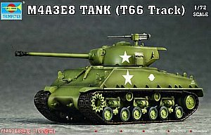 Trumpeter 1/72 M4A3E8 Tank with T66 Tracks (Easy Eight) (M4a3e8 Tank Model)