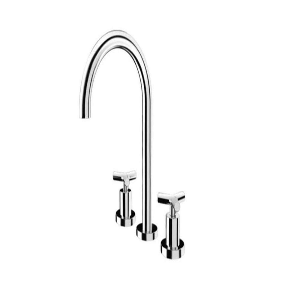 Taps Kitchen Sinktaps Mixer Swivel Faucet Sink Double-Handled Basin Faucet On The Table, Hot and Cold