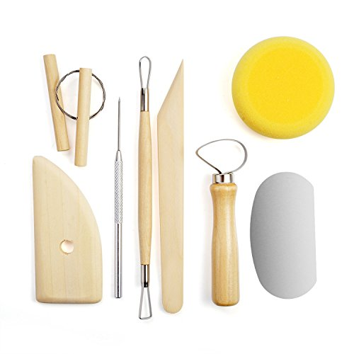 Clay Tools Set Pottery Sculpture Tools Handmade Clay Sculpture DIY 8 PCS/Set