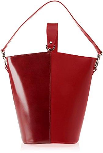 Borsa Rosso a rosso Chicca Borse 8890 spalla Rosso Donna fyqUOOEA4
