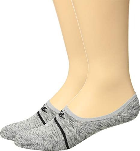 Nike Sneaker Sox Essential No-Show Socks (2 Pairs) (Grey, Men's 12-13.5)