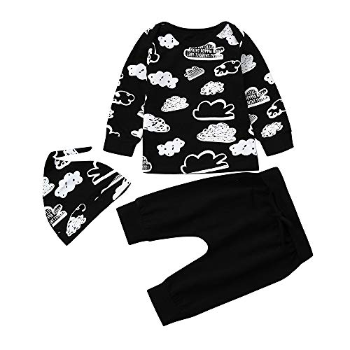 HHOO Newborn Infant Baby Girl Boy Cloud Print T Shirt Tops+Pants Outfits Clothes Set (Size:80(Age for 6Months)) -
