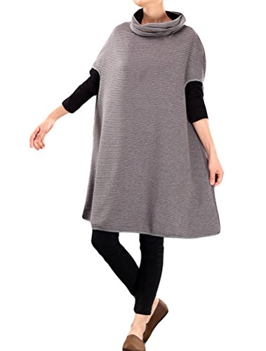 Sleeveless Dresses Loose Women's Mordenmiss Pullover Solid Fit Basic 2 Gray Tops Style 5R7P706qx