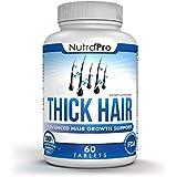 Thick Hair Growth Vitamins – Anti Hair Loss DHT Blocker Stimulates Fast Hair Growth for Weak, Thinning Hair – Biotin Hair Supplement with Keratin Helps Men & Women Grow Perfect Hair, Made in The U.S.