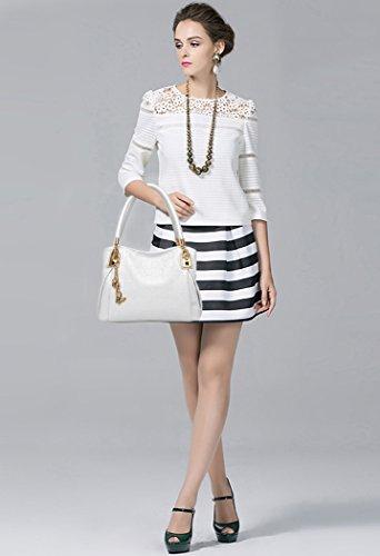 Coofit White In Borse Di Tote Spalla Pelle 3 Sacchetto Mano Shopper A 161WPIqwF
