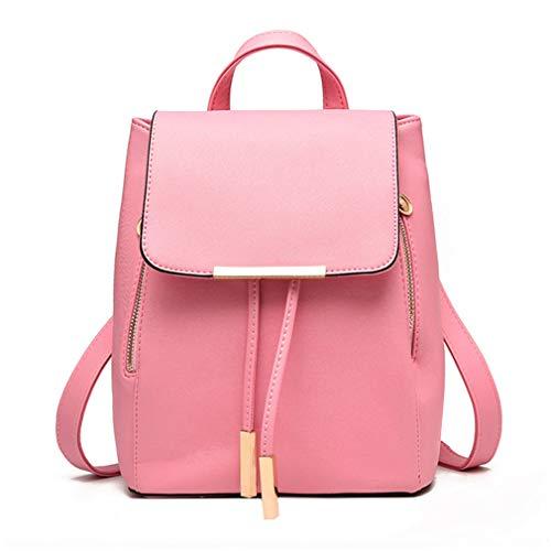 Pahajim Women Bag Backpack Purse cute PU Leather Zipper Bags Fashion Casual Rucksack Satchel and handbags for Women Girls Ladies (pink)