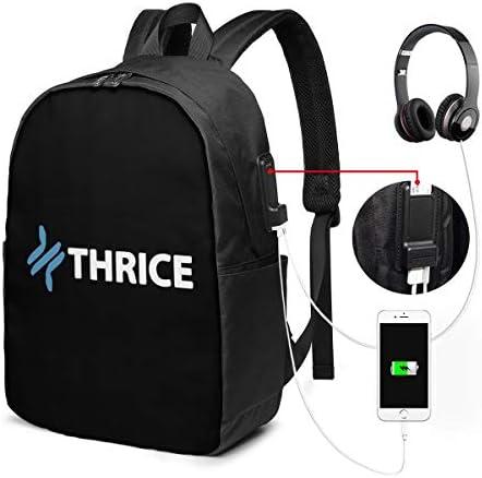 ビジネスリュック スライス Thrice メンズバックパック 手提げ リュック バックパックリュック 通勤 出張 大容量 イヤホンポート USB充電ポート付き 防水 PC収納 通勤 出張 旅行 通学 男女兼用