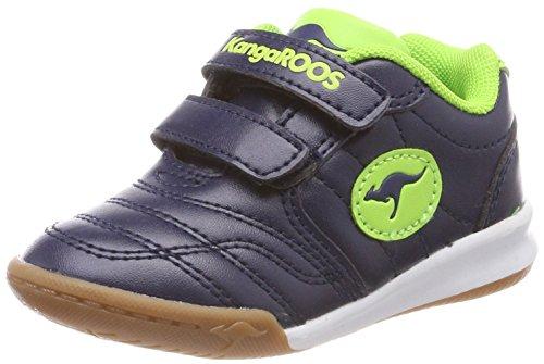 KangaROOS Unisex-Kinder Babycourt Sneaker Blau (Royal/Lime)