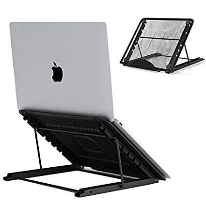 compatible with Dell XPS 10-17.3 Lenovo Black HP Lidasen Laptop tablet Stand,Foldable Portable Ventilated Desktop Laptop Holder,Universal Lightweight/&Adjustable Ergonomic Tray, Cooling Stand