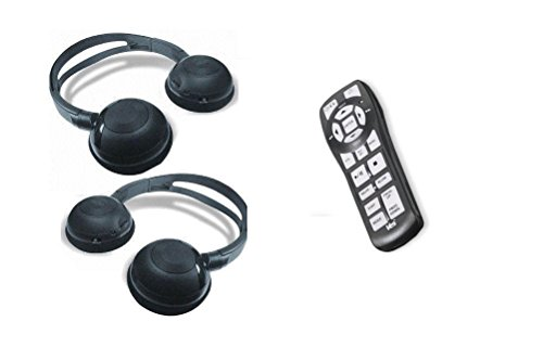 Chrysler Town and Country Wireless Headphones and DVD Remote for 2008, 2009, 2010, 2011, and 2012 Town and Country -  AV2GO, 38-82-02317