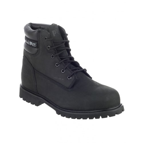 Mens Boys Black Timberland Safety Footwear Leather Size 6 7 8 9 10 11 12 Black