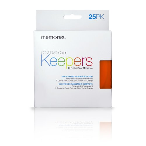 Memorex CD/DVD Keepers (25-Pack, Plastic Sleeves)