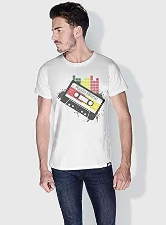 Creo Rasta Rhino Trendy T-Shirts For Men - L, White