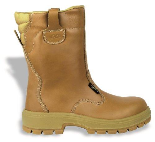 Bottes de sécurité S3HRO SRC New York Cofra Chaussures de sécurité en cuir véritable Embout plastique, protection anti-perforation Marron