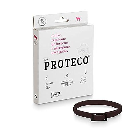 Proteco Collar repelente de insectos y garrapatas para gatos: Amazon.es: Productos para mascotas