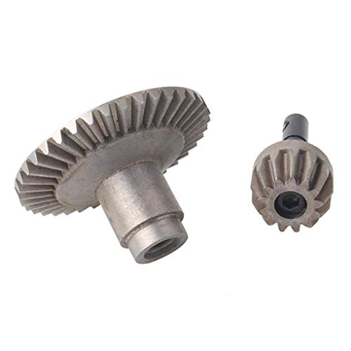 AUWU Replacement for Wraith SCX10 D90 Front Rear Axle RC Parts Steel Bevel Gear Set Heavy Duty Alloy Gear Kit