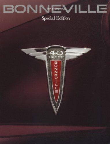 Sales Bonneville Pontiac Brochure (1997 Pontiac Bonneville Anniversary Sales Brochure)